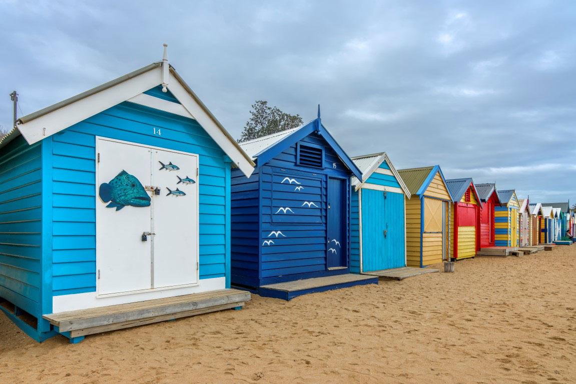 Brighton Beach Huts Melbourne