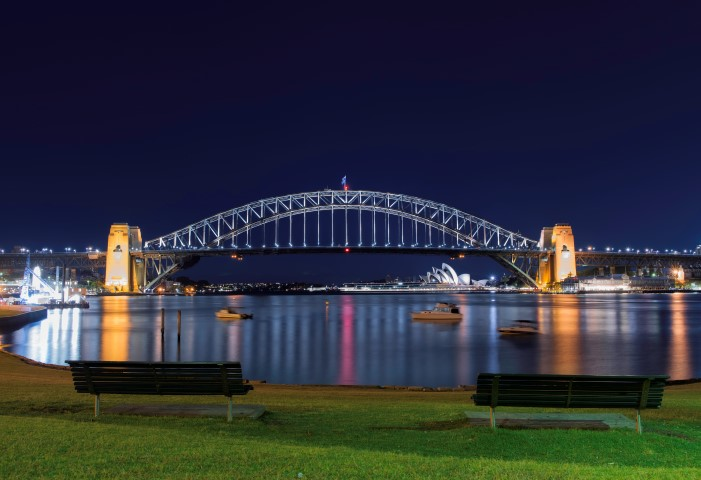 sydney harbour bridge blue's point